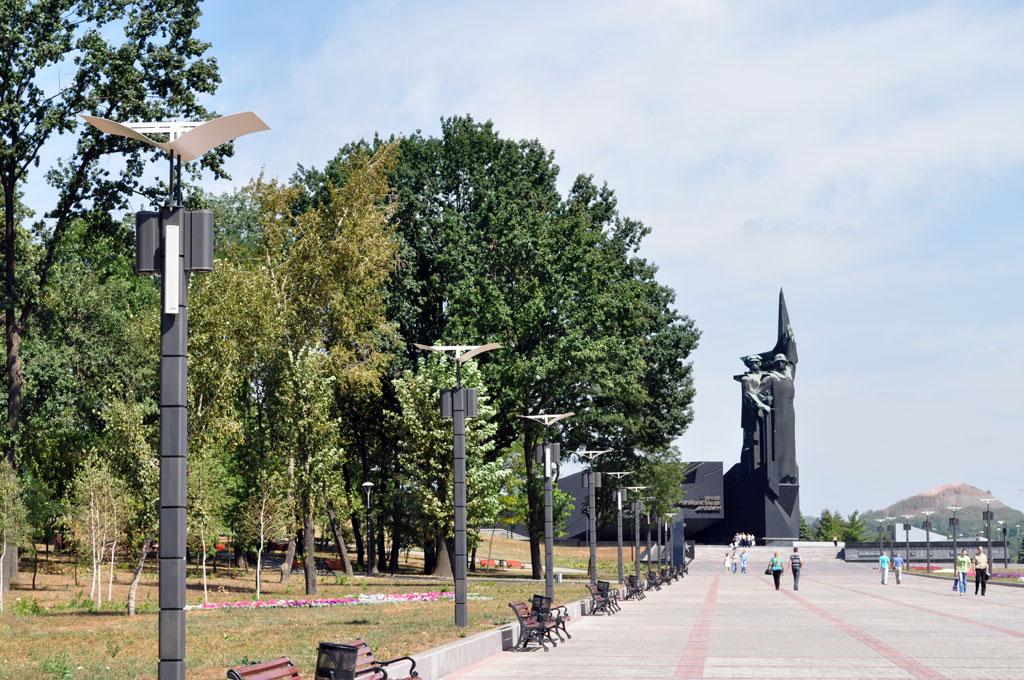 Озвучивание сквера ветеранов при монументе