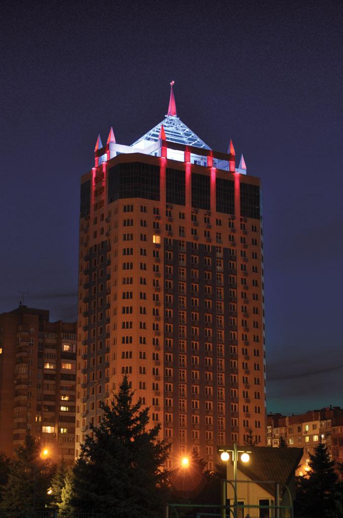 Архитектурное освещение жилого комплекса