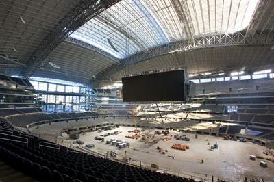 Стадион Dallas Cowboys в Арлингтоне на стадии строительства