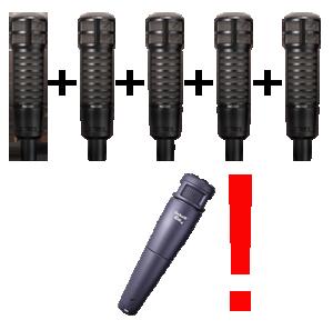 При заказе 5 микрофонов вы получаете замечательный инструментальный микрофон Electro-Voice Co4 в подарок!