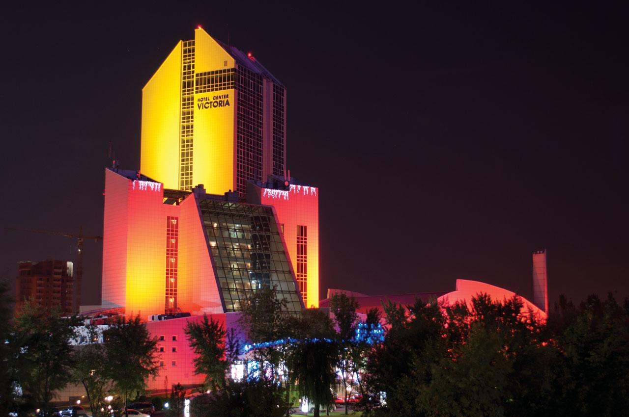 Архитектурное освещение гостиничного комплекса