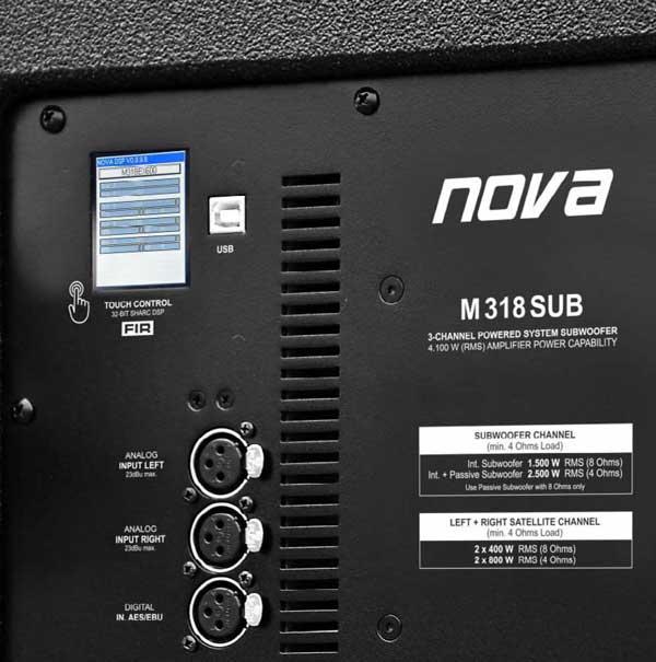 M318SUB имеет сенсорный экран для управления и настройки