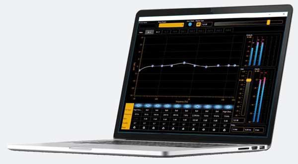 Сабвуфер M318SUB может управляться встроенным 3-канальным 32-битным процессором с плавающей точкой, а также инновационным программным обеспечением