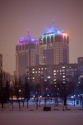 """Запущена вторая очередь архитектутрного освещения жилого комплекса """"Панорамный"""""""