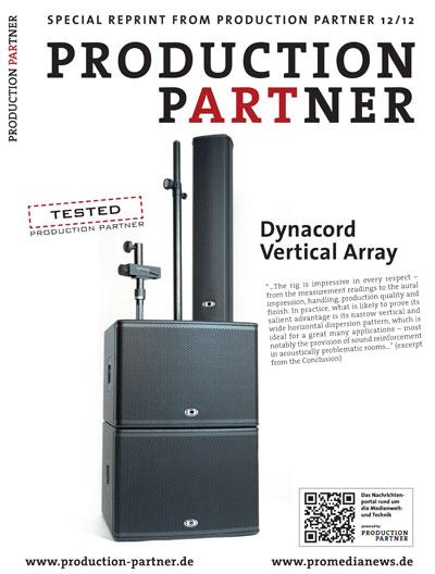 Обзор акустической серии Dynacord Vertical Array в популярном европейском журнале для музыкантов Production Partner