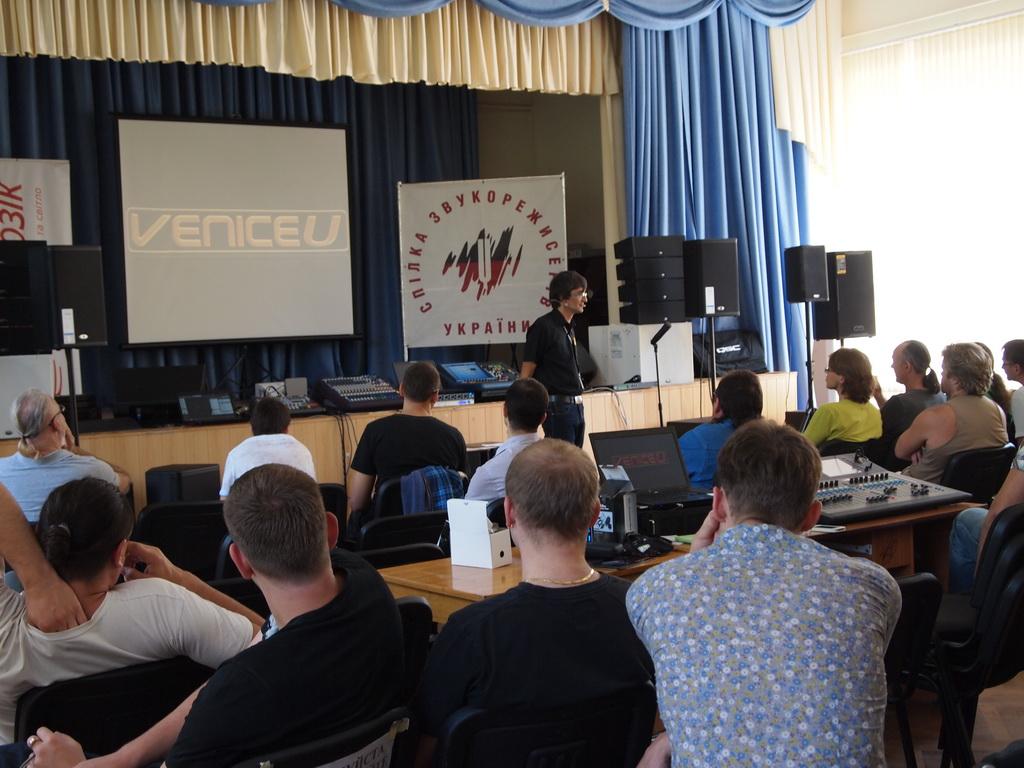 """Компания """"КОРТМИ"""" на семинаре Союза звукорежиссеров Украины - презентация долгожданной гибридной микшерной консоли Midas VeniceU с USB-интерфейсом"""