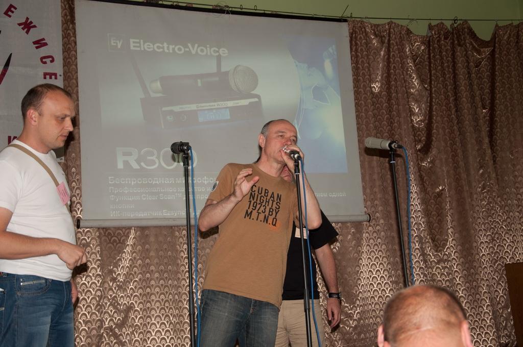 Семинар звукорежиссеров Украины 2011 - тест линейки микрофонов  Electro-Voice серии RE, включая новый микрофон RE320