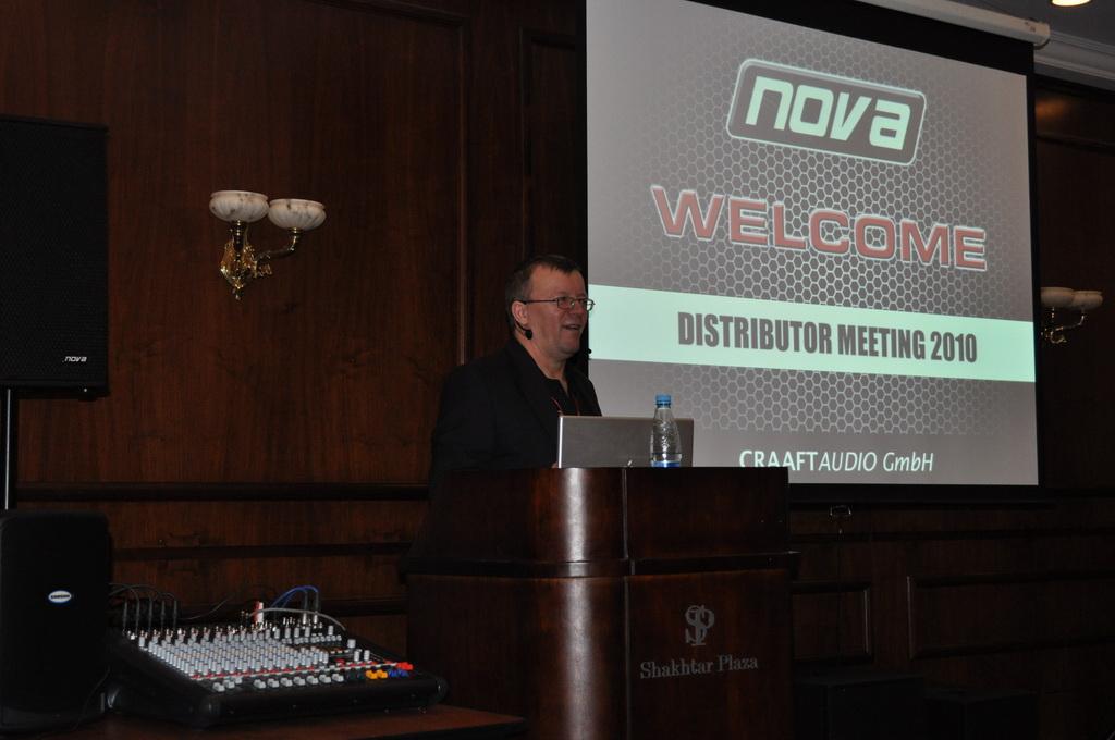 Презентация модельного ряда звукового оборудования NOVA