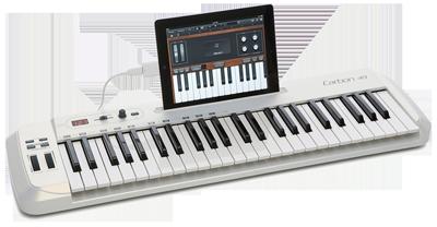 Контроллер Carbon 49 разрабатывался для совместной работы с iPad. Здесь предусмотрена специальная щель для установки планшета и он даже может питаться от батареи iPad